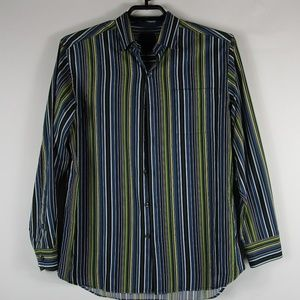 Tommy Bahama Bright Colorful Men's Striped Shirt L